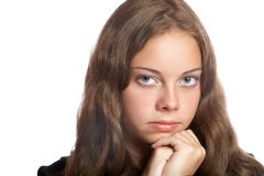 The thoughtful girl-teenager Stock Photography