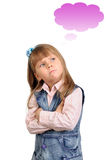 The thoughtful girl on a white Royalty Free Stock Image