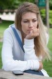 Thoughtful girl Stock Image