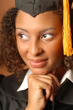 Thoughtful graduate Royalty Free Stock Image