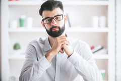 Thoughtful guy portrait Royalty Free Stock Image