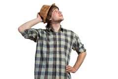 Thoughtful guy Stock Photography