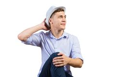 Thoughtful guy Stock Images