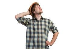Thoughtful guy Stock Photography