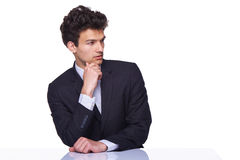 Thoughtful handsome male Stock Photos