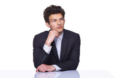 Thoughtful handsome male Royalty Free Stock Photos