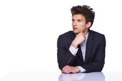 Thoughtful handsome male Stock Images
