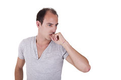 Thoughtful and handsome man Royalty Free Stock Photos
