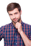 Thoughtful handsome. Royalty Free Stock Images