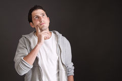 Thoughtful handsome young man - dreamy Royalty Free Stock Photo