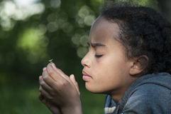 Thoughtful kid. Stock Images