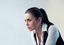 Thoughtful latina isolated Royalty Free Stock Photos