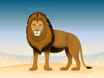 Thoughtful lion Royalty Free Stock Images