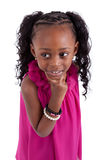 Thoughtful Little african american Royalty Free Stock Photography