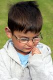 Thoughtful Little Boy Royalty Free Stock Image
