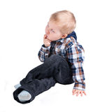 Thoughtful little boy Royalty Free Stock Photos