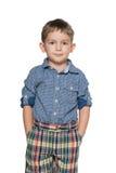 Thoughtful little boy Stock Photo