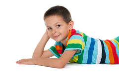 Thoughtful little boy rests Royalty Free Stock Photos