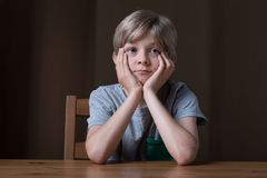 Thoughtful little boy Royalty Free Stock Photography