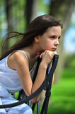 Thoughtful little girl. Royalty Free Stock Photos