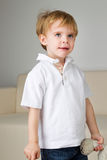 Thoughtful looking boy Royalty Free Stock Photos