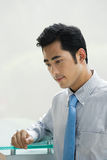 Thoughtful looking businessman Royalty Free Stock Photo