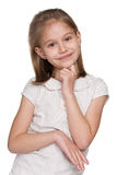 Thoughtful lovely young girl Royalty Free Stock Photos