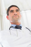 Thoughtful male doctor Royalty Free Stock Photography