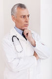 Thoughtful male doctor. Stock Photography