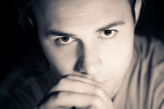 Thoughtful male portrait Stock Images