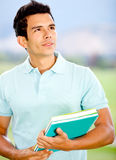 Thoughtful male student Stock Photo