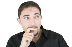 Thoughtful man. Royalty Free Stock Photos