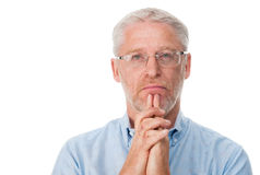 Thoughtful man Stock Image