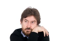 The thoughtful man looks aside Stock Photography
