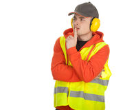 Thoughtful manual worker Royalty Free Stock Photo