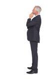 Thoughtful mature businessman posing Royalty Free Stock Image