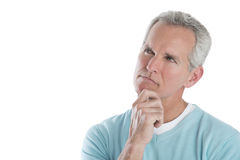 Thoughtful Mature Man Looking Away Stock Photography