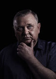 Thoughtful mature man portrait Royalty Free Stock Images