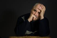 Thoughtful mature man Stock Photos