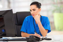 Thoughtful medical doctor Royalty Free Stock Photo