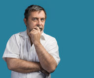 Thoughtful middle-aged man Stock Photos