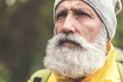 Free Thoughtful Old Man Viewing Natural Scene Royalty Free Stock Image - 98427186