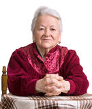 Thoughtful old woman Royalty Free Stock Photography