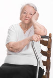 Thoughtful old woman Stock Photos