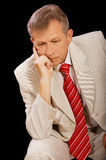 Thoughtful older businessman Royalty Free Stock Photography