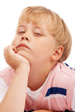 Thoughtful preschooler boy Stock Photography
