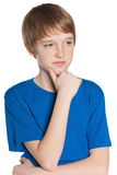 Thoughtful preteen boy Stock Image