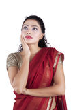 Thoughtful Pretty Indian Woman Royalty Free Stock Photography