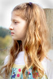 Thoughtful pretty tween girl Stock Photography