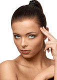 Thoughtful Pretty Woman Stock Images